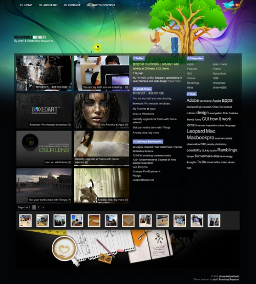 infinity wordpress theme 20 thèmes Wordpress gratuits