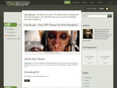 oneroom wordpress theme 20 thèmes Wordpress gratuits
