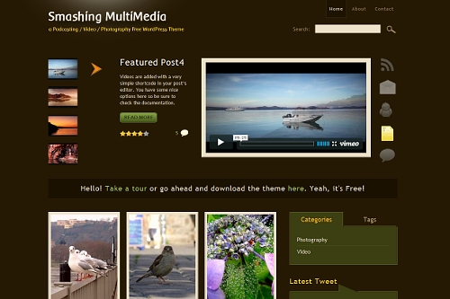 smashing multimedia wordpress theme 20 thèmes Wordpress gratuits