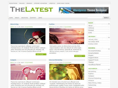 thelatest wordpress theme 20 thèmes Wordpress gratuits