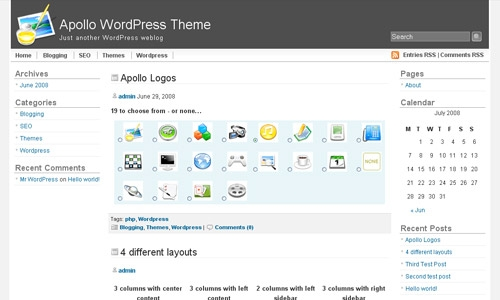 wordpress apollo theme 20 thèmes Wordpress gratuits