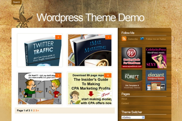 wordpress sgallery theme 20 thèmes Wordpress gratuits