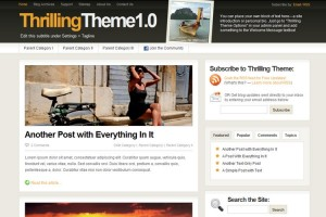 wordpress thrilling theme 300x200 20 thèmes Wordpress gratuits