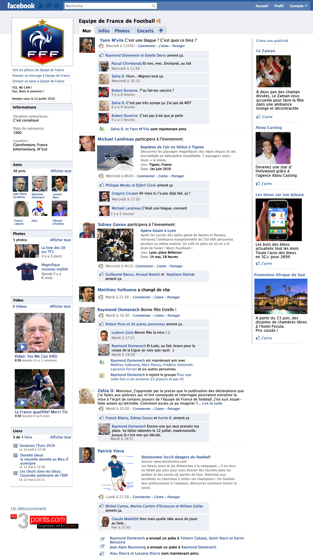 facebook equipe de france football L'équipe de France de Football sur Facebook : la page !