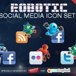 robotic-social-media-icon