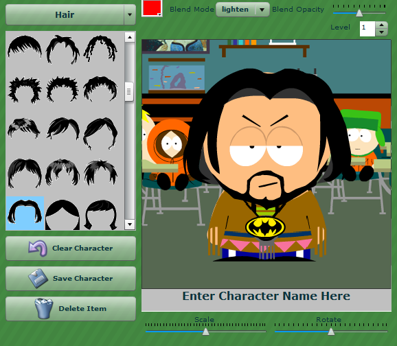 south park Créer votre personnage de South Park (Application Facebook)