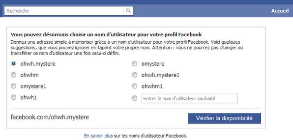 facebook username Comment changer le lien url de votre profil Facebook