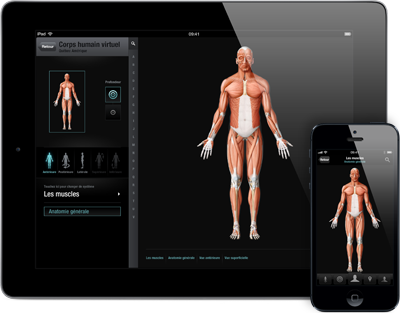 anatomie corps humain application Anatomie du corps humain virtuel