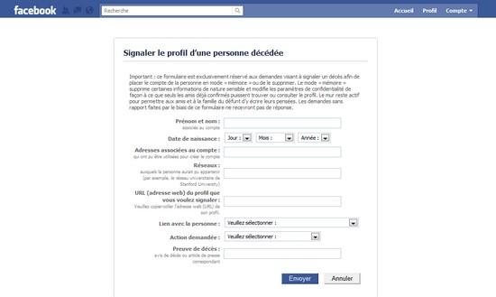 deces facebook mort Comment déclarer le décès dune personne sur Facebook ?