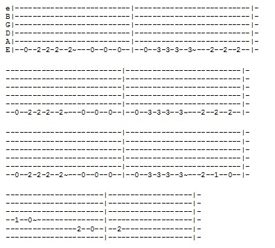 Favori La tablature guitare pour la theme song de Pirates des Caraibes DA48