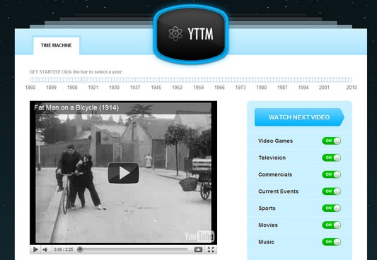 youtube time machine video Youtube Time Machine : Visionner de vieilles vidéos en ligne