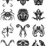 12 illustrations originales des signes du Zodiac