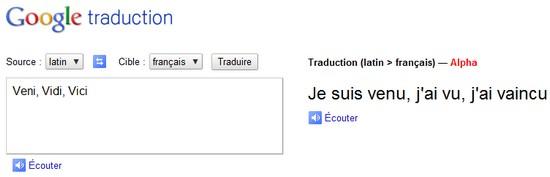 Traduire du latin en ligne : traduction français-latin avec Google