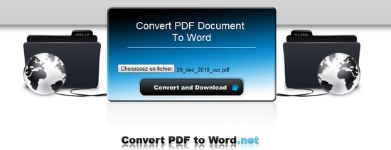 pdf to word Convertir un fichier .PDF en WORD gratuitement avec PDF to Word