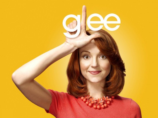 wallpaper glee jayma mays emma pillsbury1 550x412 16 superbes Wallpaper des acteurs de la série Glee [HD]
