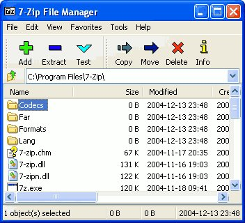 7Zip : décompresser vos archives ZIP, RAR, TAR, ...