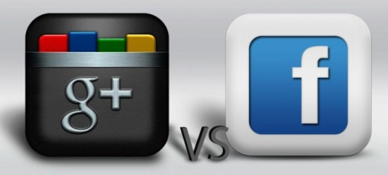 google plus vs facebook 550x248 Importer vos amis Facebook dans Google Plus