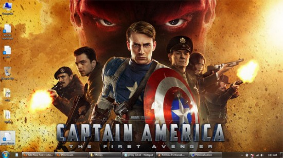captain america windows 7 wallpaper 1 550x308 Theme Windows 7 : Captain America