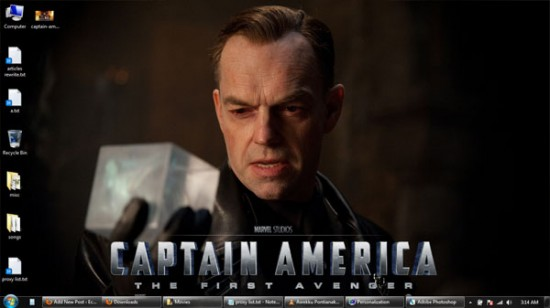 captain america windows 7 wallpaper 2 550x308 Theme Windows 7 : Captain America