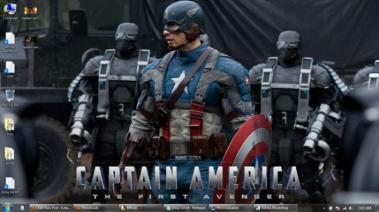 captain america windows 7 wallpaper 3 550x308 Theme Windows 7 : Captain America