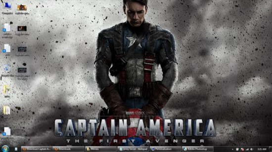 captain america windows 7 wallpaper 4 550x308 Theme Windows 7 : Captain America