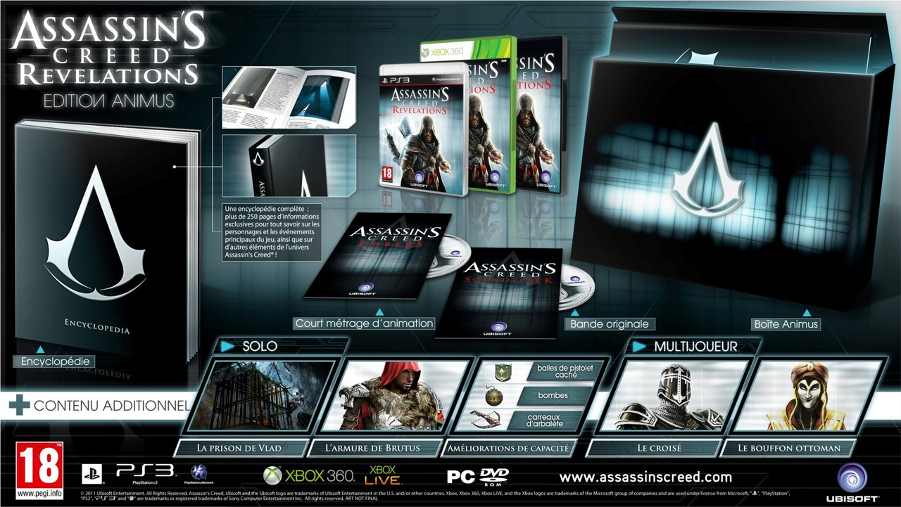 4 éditions pour Assassin's Creed Revelations : collector, animus, … !