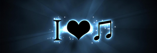 i love music couverture facebook cover 550x188 Couvertures pour Facebook   Cover du Profile