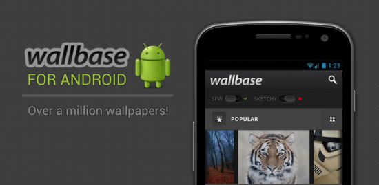 app fond ecran android wallbase 550x269 Plus d1 million de fond décran Android en HD !