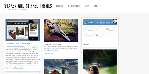 4 shaken and stirred 10 thèmes Wordpress gratuits dans le style de Pinterest