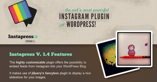 instapressit instagram plugin wordpress Instagram sur votre blog Wordpress pour illustrer vos pages et articles
