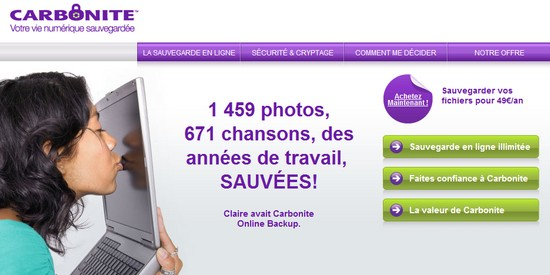 carbonite cloud illimite Carbonite : le stockage en ligne illimité pour vos photos et documents