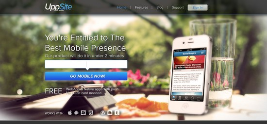 uppsite mobile app UppSite : convertir votre site web en application mobile gratuitement