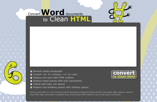 Convertir un document Word en code HTML