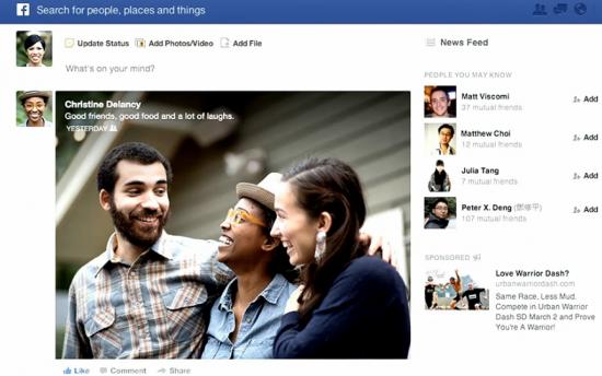 Découvrez les premières images du nouveau Facebook et activez le