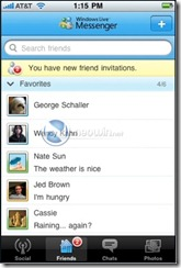 Windows Live Messenger sur l'Iphone